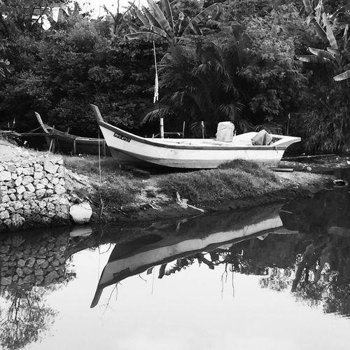 Kampunglife Boats BW Collection Riverside Urban Lifestyle Country Life Iphonephotography Reflections Kampung Life Fishing Boats Shadows