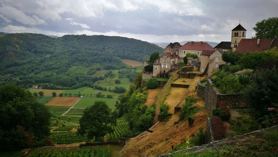 Beautiful view over a Château Agriculture House Rural Scene Landscape Architecture Castle France Outdoors Chateaux Lost In The Landscape