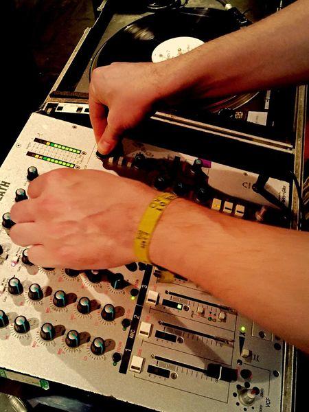 Dj Djing Partying Djs At Work DJing Hands At Work Hands Club Night Music Music Equipment Mixing Sound Mixing Records Pub Tunes Turntable Records Vinyl Decks Spinning Vinyl