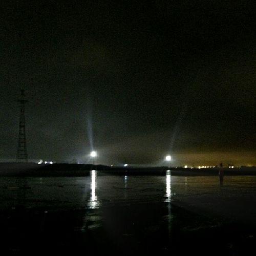 Sarkandaugava Night Light Clouds water noisy riga