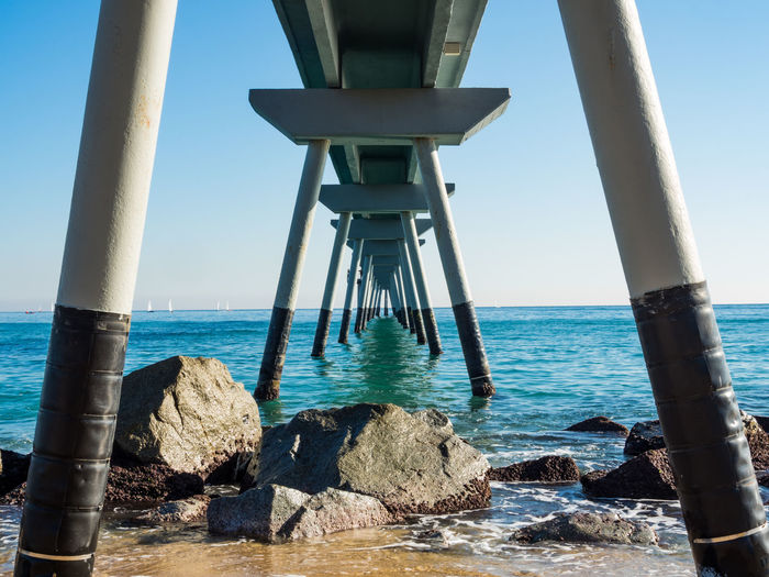 Sea Water Sky Beach Horizon Over Water Nature Clear Sky Rock - Object Architectural Column Solid Day Architecture Rock Beauty In Nature Scenics - Nature Outdoors Land Horizon Tranquil Scene No People