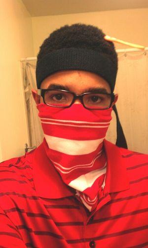 I guess I'm a blood today Random Red Ski Mask