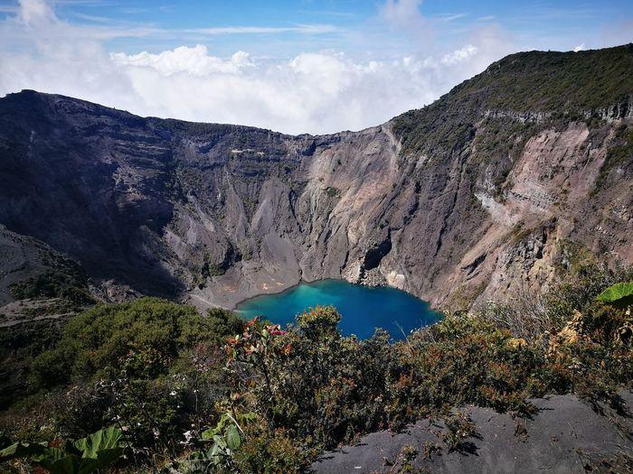 Costa Rica P9 Huawei EyeEm Selects Water Mountain Lake Sky Landscape Mountain Range Cloud - Sky Travel Volcanic Landscape Volcano