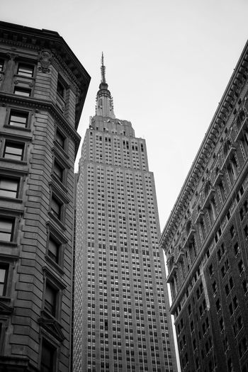 Empire State Building Black And White Skyscraper Skyscrapers Empire State Building Historic Architectural Architecture City Skyscraper Modern Business Finance And Industry Sky Architecture Building Exterior Built Structure Travel Tall - High Cityscape Office Building Tower Office Building Exterior