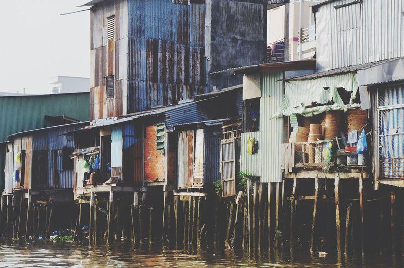 Stilt houses Mekong Delta Vietnam Traveling Travel Photography Backpacking