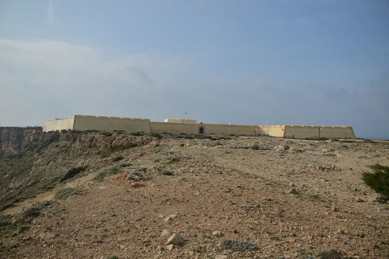 Low Angle View Of Sagres Fortress Against Sky