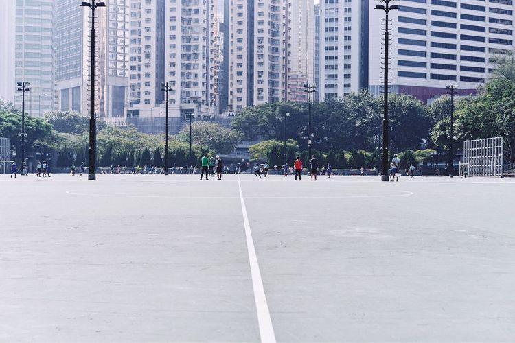 Daily training EyeEmBestPics EyeEm Best Shots Adapted To The City City Anythingbutbeautiful City Life Football Soccer Soccer Field Football Game