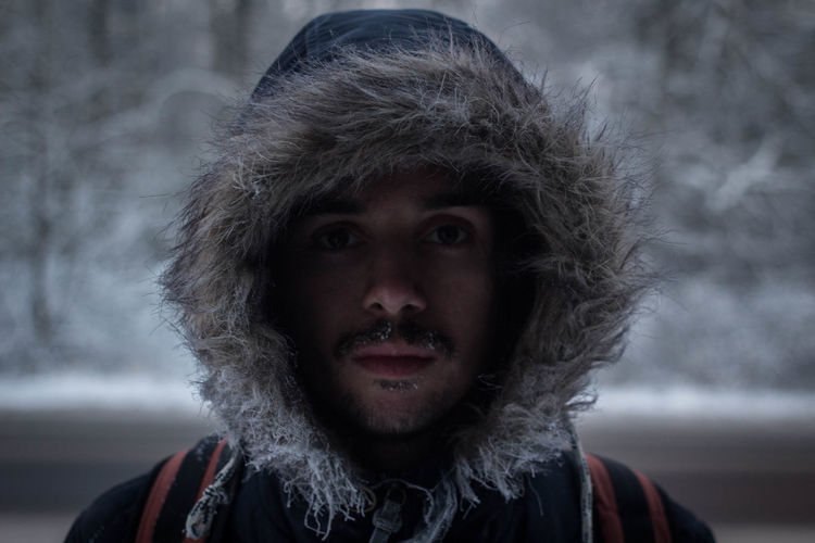 Close-up Cold Cold Temperature EyeEmNewHere Focus On Foreground Freeze Freezing Frost Frosty Handsome Headshot Ice Landscape Looking At Camera One Person Only Men Outdoors People Portrait Real People Snow Snow Covered Warm Clothing Winter Young Adult