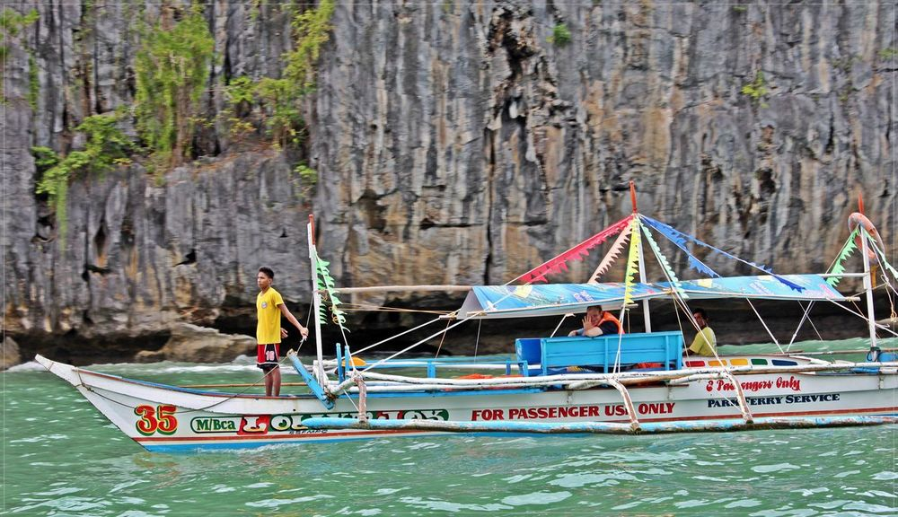 Tourist Attraction  Beach Photography Tourist Destination Rock Formation Cave Formations Boats⛵️ Blue Sea Happiness Holidays ☀ Palawanadventures Palawan Beach Philippines