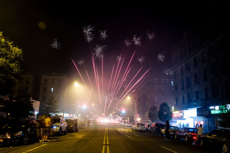 You can hear it popping in the air tonight...hold on. Fireworks Newyorkcity Feel The Journey