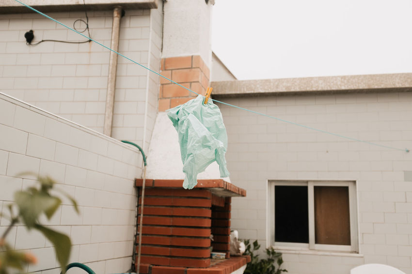 RECYCLING Threeweeksgalicia Architecture Built Structure Building Exterior Day No People Wall - Building Feature Building Outdoors Window Hanging House Drying Clothesline Clothing Low Angle View Laundry Wall Nature Clothespin Textile Plastic Bag Plastic