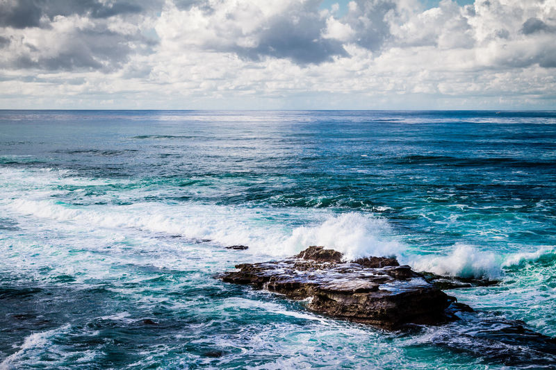 California Cloud - Sky Horizon Over Water Nature No People Ocean Outdoors Power In Nature Rock San Diego Sea Sea And Sky Seascape USA Wave