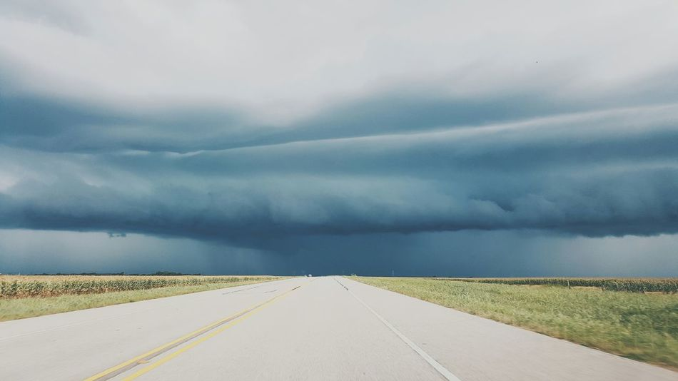 A Storm is a brewin'. Storm Cloud Stormy Weather Dark Sky Back Roads Texas Texas Skies