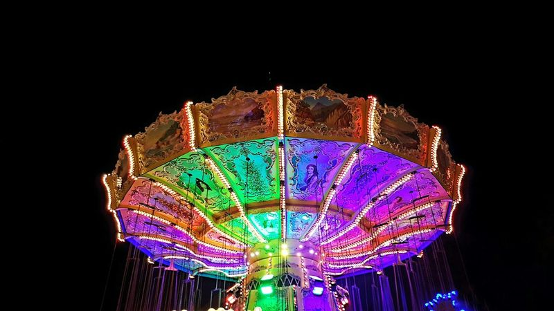 Darkness and lights... Werne A.d. Lippe Ruhrgebiet Sim-jü Night Illuminated Low Angle View Multi Colored Arts Culture And Entertainment Amusement Park Funfair Outdoors Sky Colors Colorful Carousel Looking Up The Week On EyeEm Nightphotography Night Lights Illumination Lightning Alle Farben HUAWEI Photo Award: After Dark #urbanana: The Urban Playground