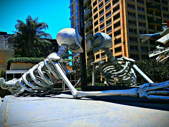 Moca Skeleton Urs Fischer  Mirror Skinny Afternoon, by Urs Fischer.