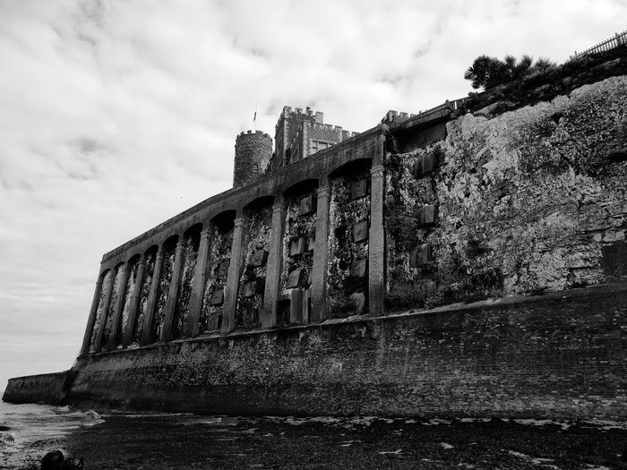 Joss Bay Architecture BW Architecture History Castle Building Exterior Ripples And Waves Built Structure Cloud - Sky Old Ruin Outdoors Day Ancient Travel Destinations Low Angle View No People Sky Low Tide Low Tide Revelations Botany Bay Sand Coastal Feature Beach Beauty In Nature Seaweed Columns And Pillars Tidal Wall