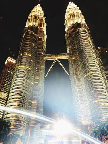 Make dreams, not war! Architecture Built Structure Night Illuminated Building Exterior City Office Building Exterior Low Angle View Sky Tourism Building Travel Skyscraper Modern Outdoors Nature Travel Destinations Motion No People