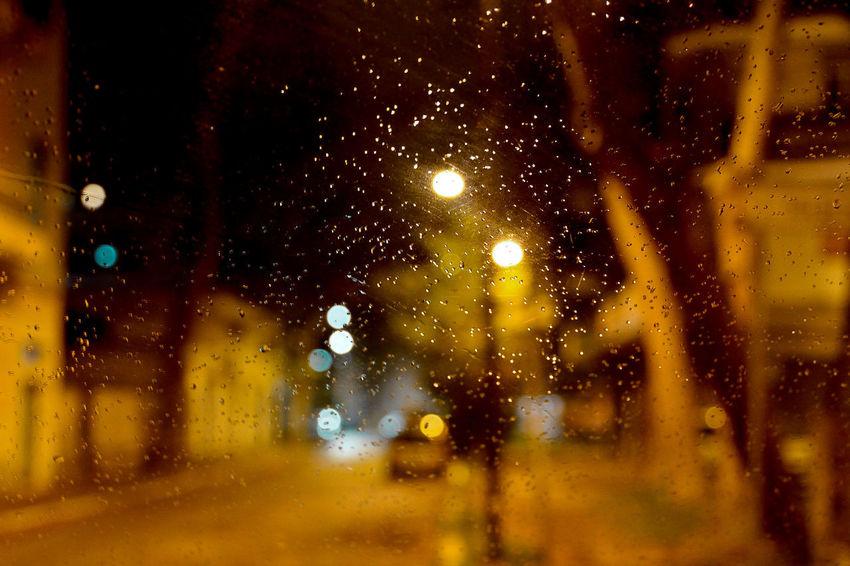 Raining Backgrounds Close-up Illuminated Land Vehicle Nature Night No People Outdoor Photography RainDrop Wet Window