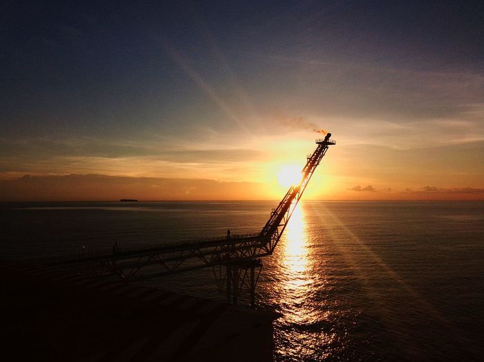 Working Enjoying Life Beautiful Sunset