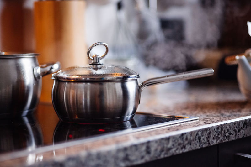 Kitchen Utensil Indoors  Home Household Equipment Heat - Temperature Domestic Kitchen Steam Stove Preparation  Metal Smoke - Physical Structure Close-up Teapot Boiling Boiling Water Hot Hot Drink