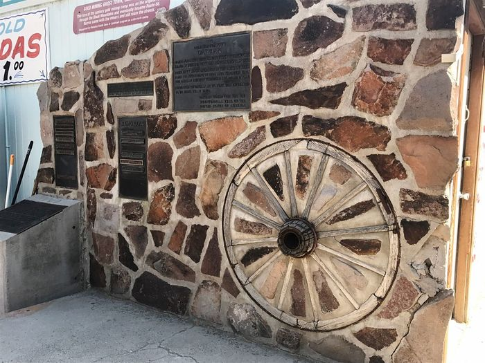 Memorial Old-fashioned No People Day Outdoors Route 66 Mining History Of America Wagonwheel