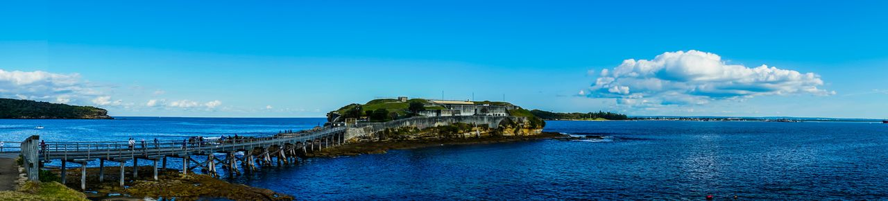 Panorama of bare island and botany bay. At Le Perouse Sydney. EEA3 - Sydney SonyA7s A7s