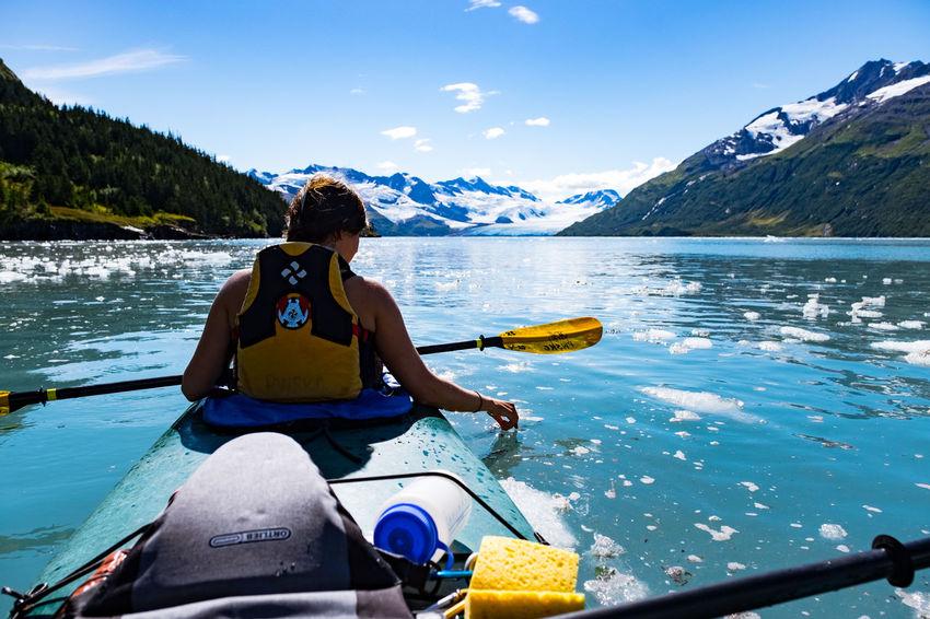 Camping Exploring Prince William Sound, AK Sea Kayaking Travel Adventure Beauty In Nature Mountain Range Nature Outdoors Scenics - Nature Sky Southeast Alaska Travel Destinations Water