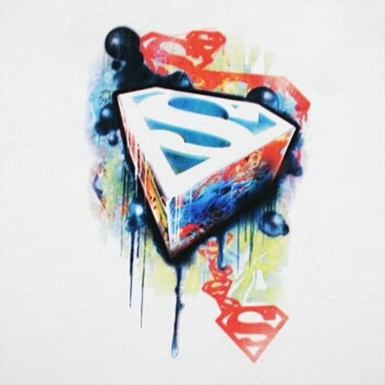 Graffiti Art Superman HERO Flash Follow Geekin