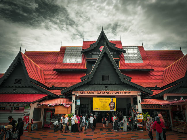 Menara Taming Sari, Malacca Politics And Government City Red Place Of Worship History Roof Ancient Sky Architecture Building Exterior
