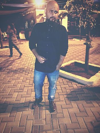 City Fashion People Beard Front View Standing Taking Photos People Of EyeEm POSEE ✌ Hello World Relaxing Check This Out Outdoors Amusement Park At Night
