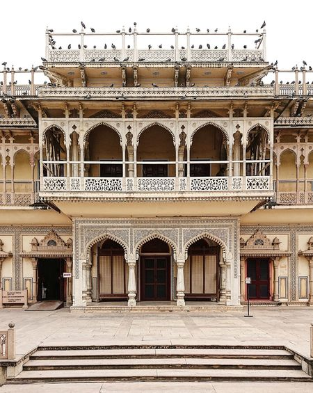 India Jaipur Arch Arched Architectural Column Architecture Building Building Exterior Built Structure City Courtyard  Day Entrance Façade History Incredible India No People Ornate Outdoors Palace Rajasthan Staircase The Past Travel Travel Destinations