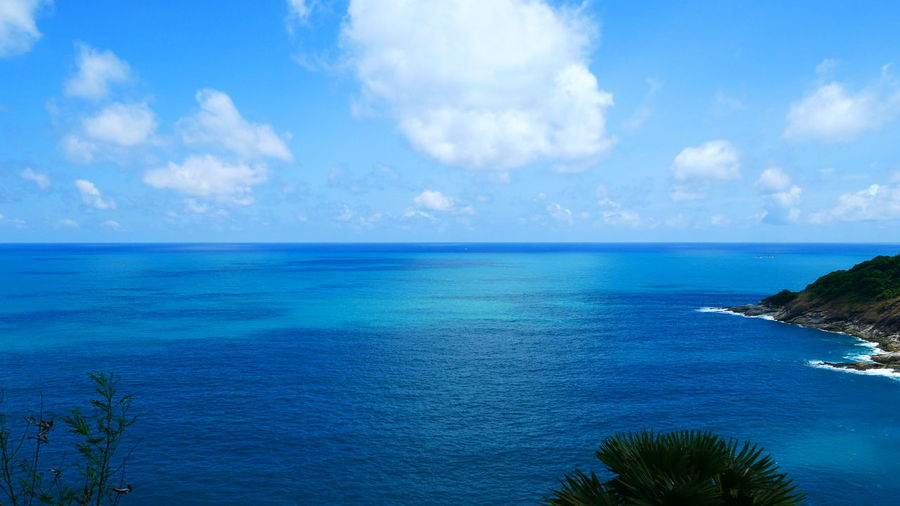 Andaman sea phuket thailand Sea Water Sky Scenics - Nature Horizon Over Water Horizon Beauty In Nature Tranquil Scene Tranquility Cloud - Sky Blue Nature No People Day Idyllic Land Beach Plant Outdoors Turquoise Colored