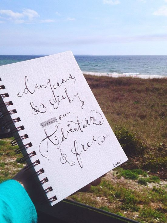 Beach Sketchbook Calligraphy The Sea Art Quotes Live Life Sketch Doodle