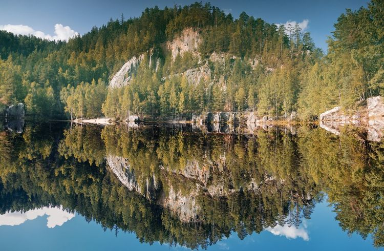 I'm still in awe with Adrspach Rocks and the reflection in artificial quarry lake. Trynidada Leicacamera Autumn Water Tree Reflection Plant Lake Beauty In Nature My Best Travel Photo No People Scenics - Nature Tranquility Day Nature Tranquil Scene Symmetry Growth Non-urban Scene Forest Sky Green Color Outdoors