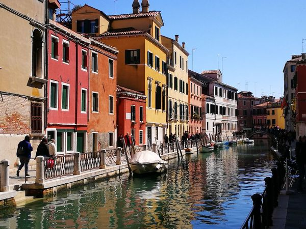 Venezia, Canale Building Exterior Architecture Water Built Structure City Building Nature Residential District Canal Nautical Vessel Reflection Travel Transportation Waterfront Mode Of Transportation Tourism Travel Destinations Incidental People Sky Outdoors