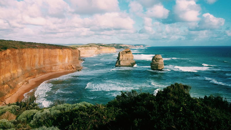 Landscape Beach Vacations Nature Outdoors Travel Destinations Australia Greatoceanroad Twelveapostles Beauty In Nature Sea Wave The Great Outdoors - 2017 EyeEm Awards