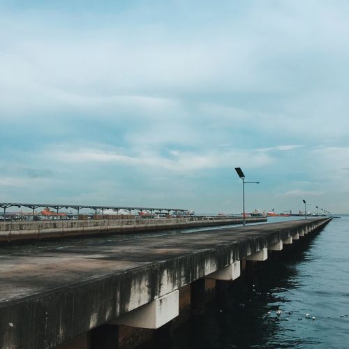 View of pier over sea