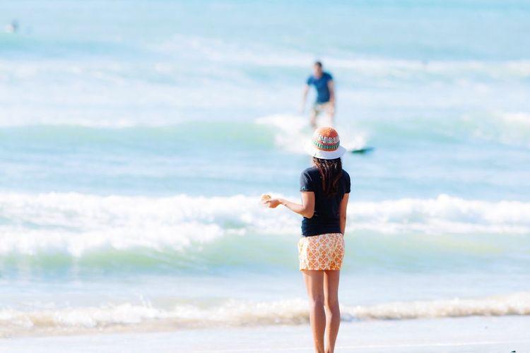 Fukuoka,Japan Waves, Ocean, Nature Sea View Girl