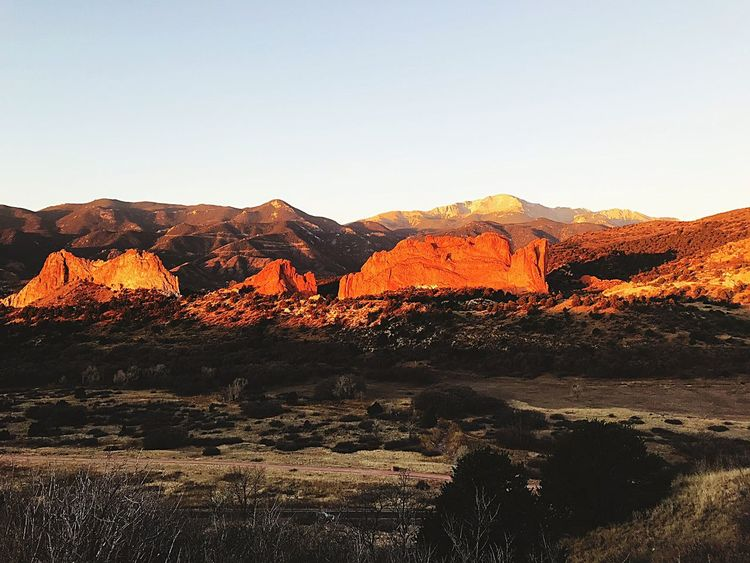 Sunrise. Garden of the Gods Rock - Object Beauty In Nature Physical Geography Scenics Tranquil Scene Landscape