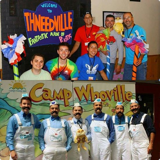 Cabin 4 always goes all out! Oharedeliveryguy @camprisingsun Fun Campwhoville Drseuss cabinthneedville thelorax camp kids @j10mann @mike__root