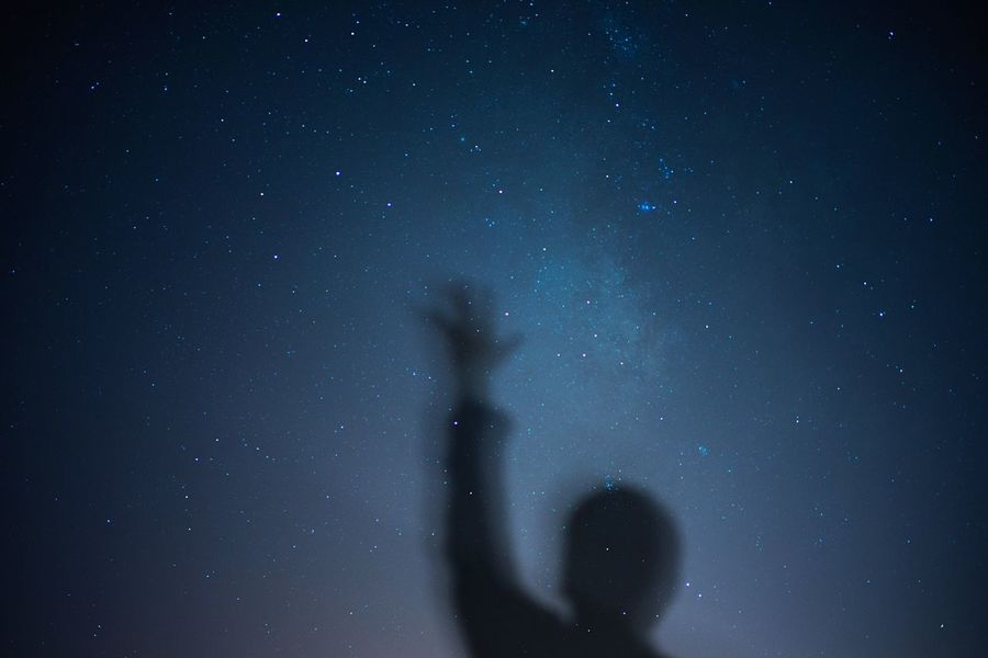 Milky Way Selfie My God, It's Full Of Stars Under The Milky Way Nightphotography The Sky At Night Oh Hai Dere Hands Up Reach For The Stars