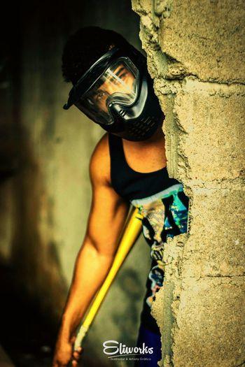 Don't Panic Eliworks Dontpanic Paintball Photography Grudge King Mask Purge