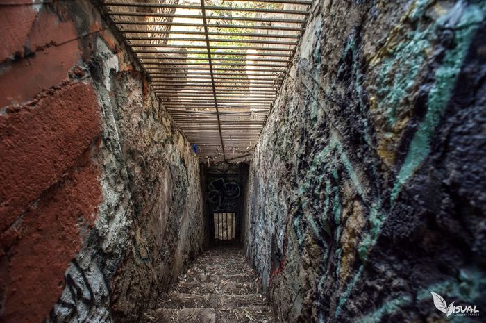 Abandoned staircase at the Lazoo in Griffith Park From My Point Of View EyeEmBestPics EyeEm Best Shots Los Angeles, California Urban Landscape Graffiti Metal Bricks