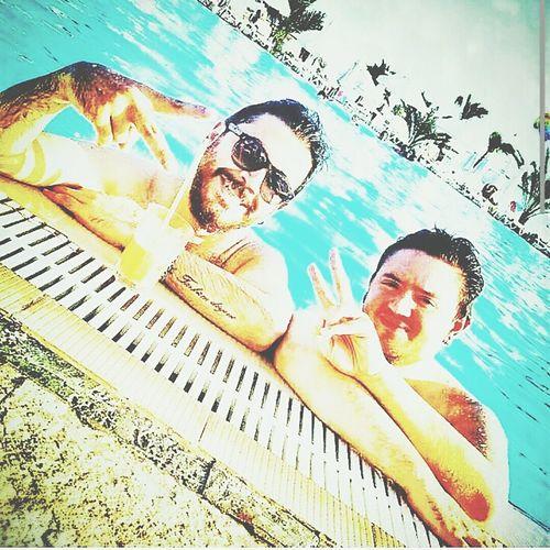 Swimming Swimming Pool Bro Funtime Summer2014