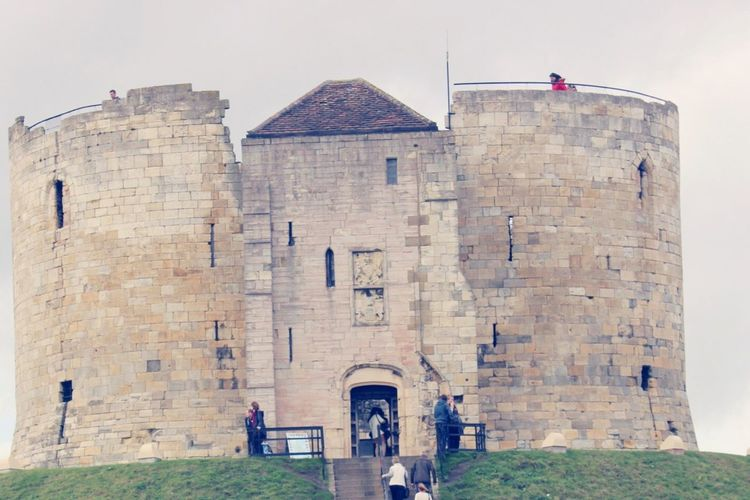 York Castle Against Clear Sky