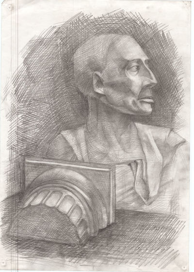 Stady Black & White Sketch HEAD Studentwork Art Stady Craftpaper ArtWork Indoors  Gypsum Head Handmade Pencil Art Antique Philosopher Sketching Exebithion Ink Sketch Philosopher Blackandwhite Gypsum Voltaire Architecture Antique Hand EyeEmNewHere