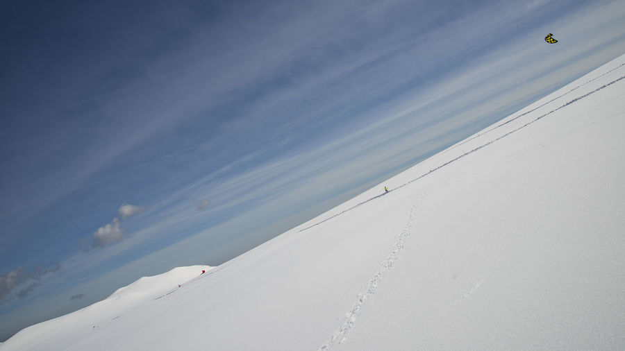 Wild is the wing Kite Wing Wintertime Beauty In Nature Day Kiteboarding Nature No People Outdoors Scenics Sky Snow Tranquil Scene Tranquility Winter Wonderland