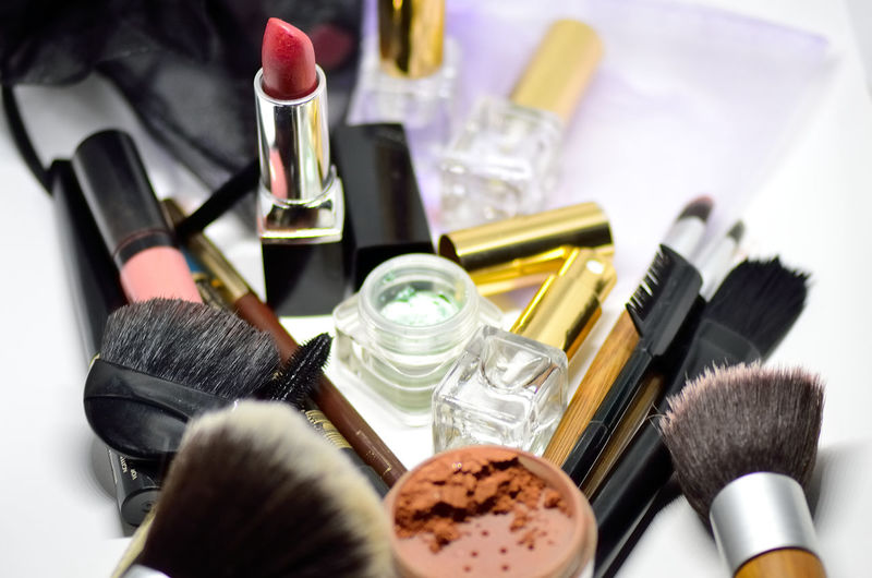 Close-Up Of Beauty Products