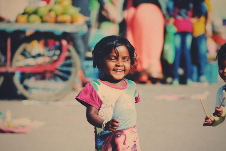 Childhood is the first precious gift that poverty steals from a child! Portrait Childhood Looking At Camera Happiness Smiling One Person Girls Children Only Cultures Outdoors Cheerful Poverty But Happiness Poverty Life Is Beautiful EyeEm EyeEm Gallery Adorablekids Childhood Memories Children's Portraits 700dphotography Children_collection Kids Being Kids Awesome