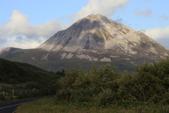 Mount Errigal Beauty In Nature Day Erupting Landscape Mount Errigal. Ireland. Mountain Mountain Peak Nature No People Outdoors Scenics Sky Tree
